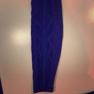 Lululemon indigo full length lace up pants